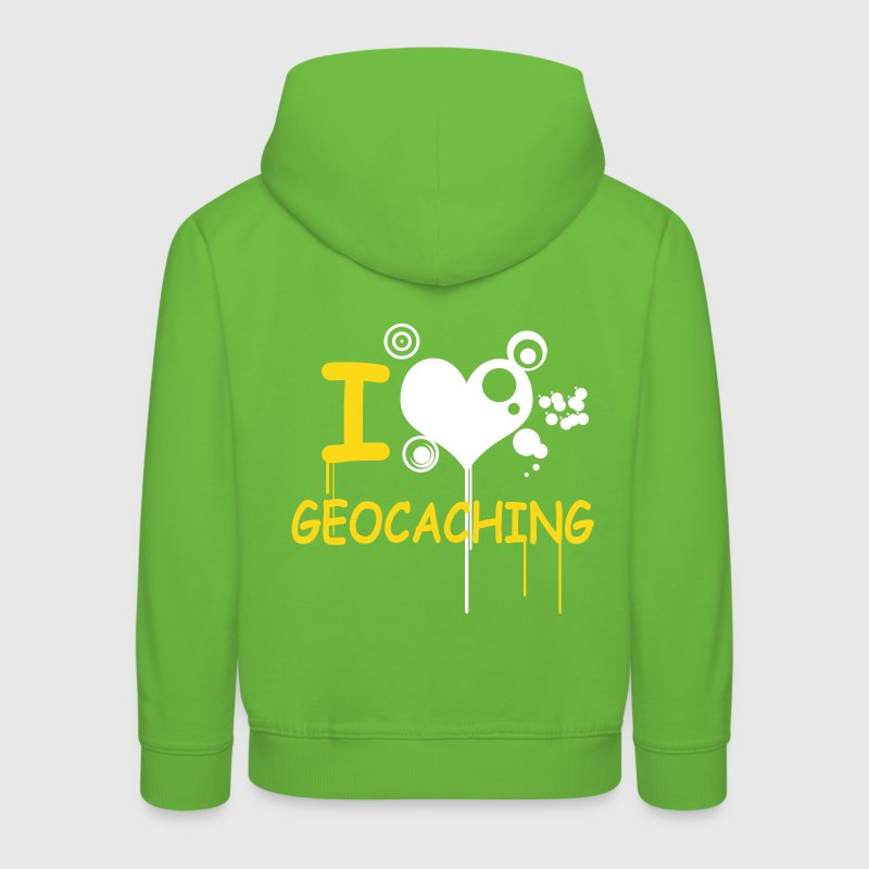 I love geocaching - 2colors - back - Kids' Premium Hoodie