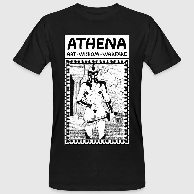 Greek Deity, the Goddess Athena Nude Divinity. - Men's Organic T-shirt
