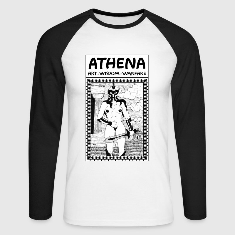 Athena the Goddess of War, Wisdom and Arts. Poster - Men's Long Sleeve Baseball T-Shirt