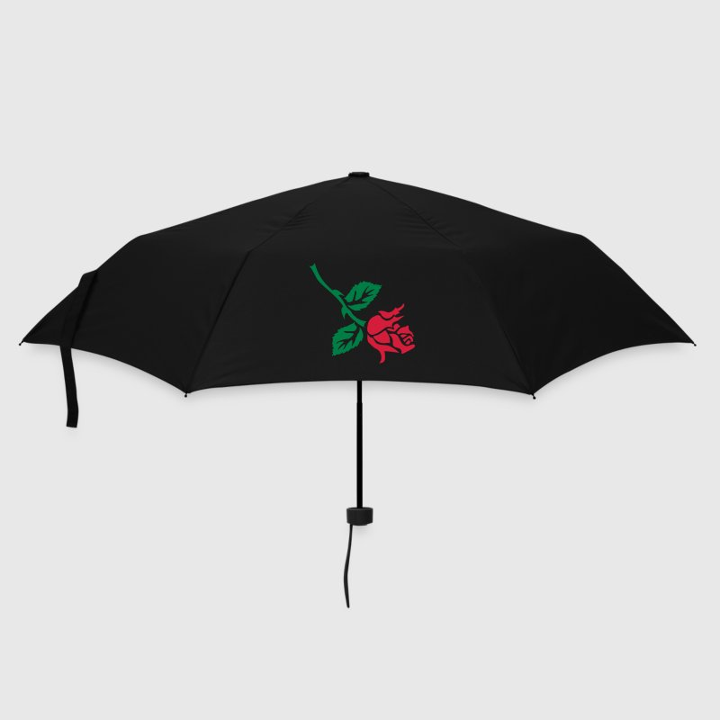 retro rose tattoo patjila Umbrellas - Umbrella (small)