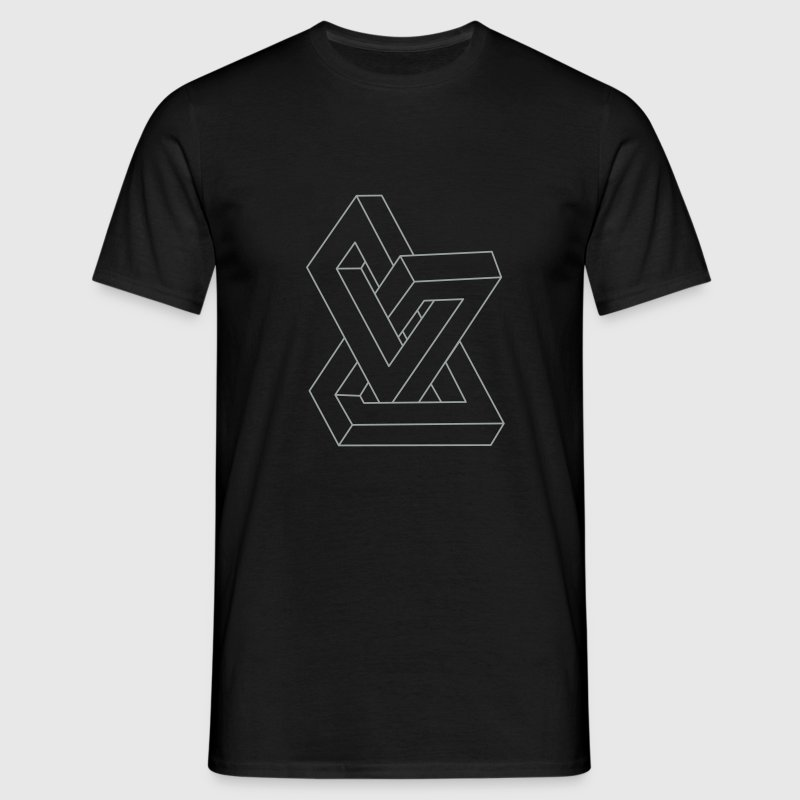 Optical illusion - Impossible figure T-Shirts - Men's T-Shirt