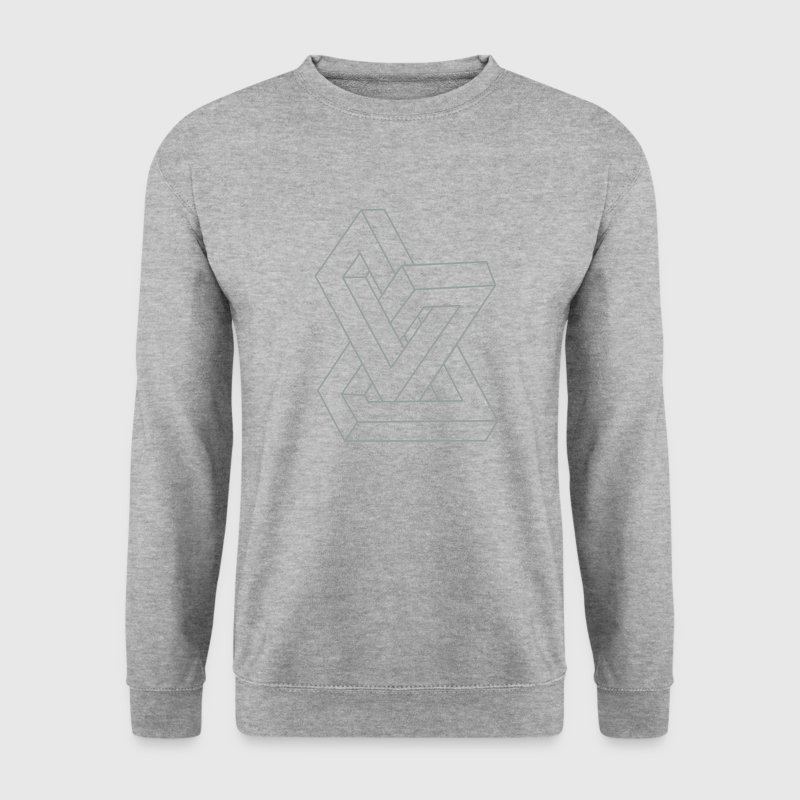 Illusion d'optique - figure impossible Sweatshirts - Sweat-shirt Homme