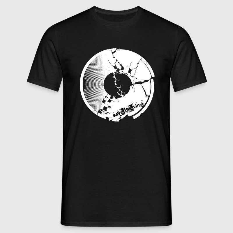 save_the_vinyl_trashed T-Shirts - Männer T-Shirt