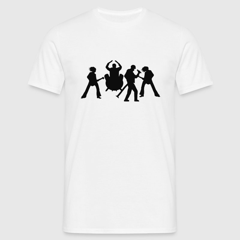 Blanc musicien Band Rock groupe Tee shirts - T-shirt Homme