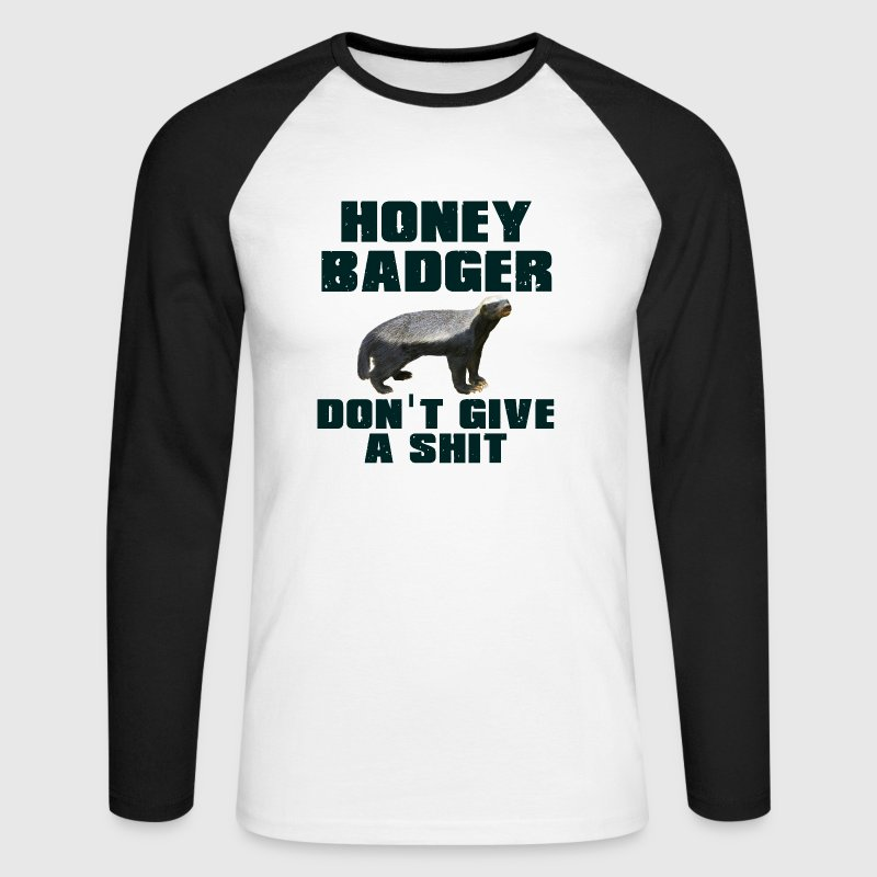 Honey Badger Don't Give A Shit Long sleeve shirts - Men's Long Sleeve Baseball T-Shirt