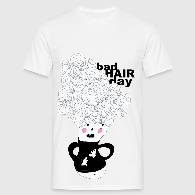 bad hair day  - Männer T-Shirt