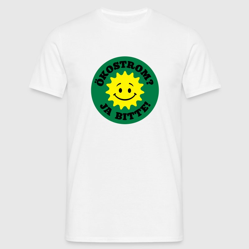 green power yes please, nuclear power no thanks, - Men's T-Shirt