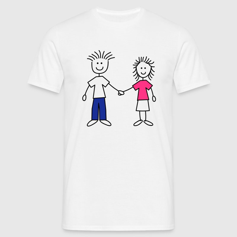 family_mom_and_dad_3c T-shirts - Herre-T-shirt
