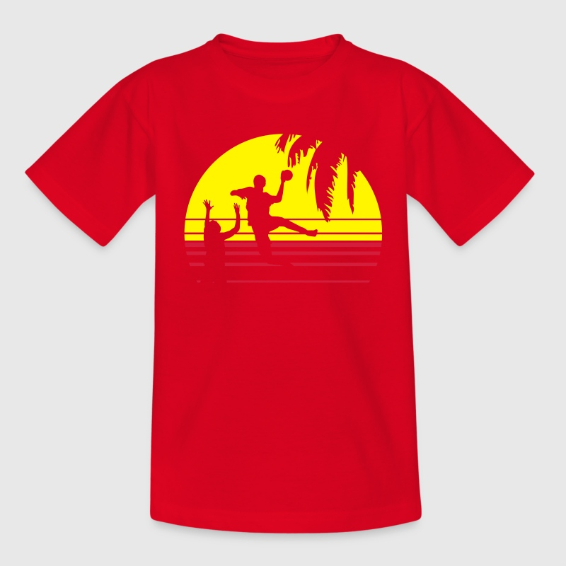 SUNSET BEACH HANDBAL - Teenager T-shirt