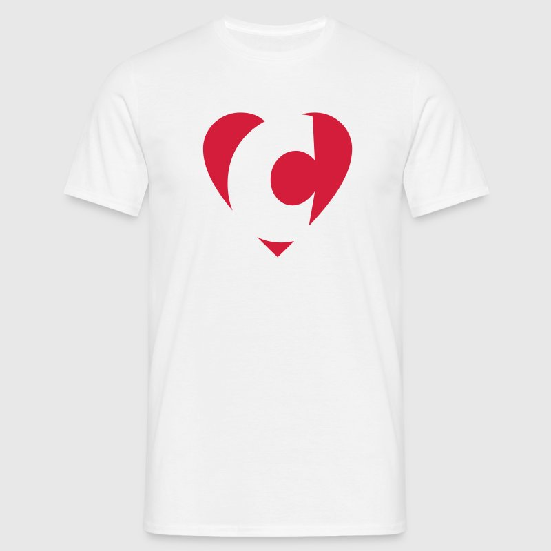 I love C T-Shirt - Heart C - Letter C - Men's T-Shirt
