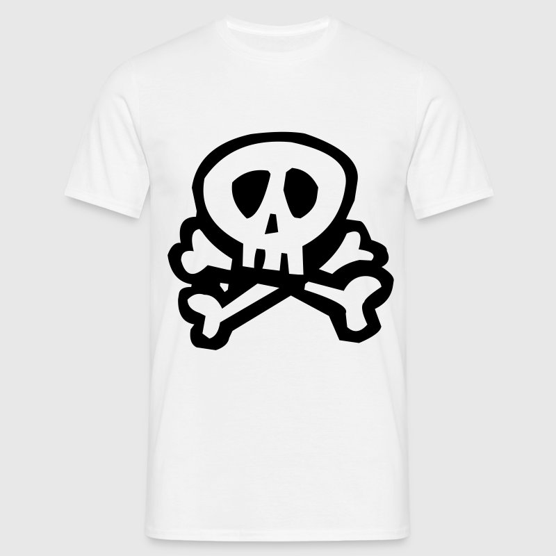 kids skull bones pirate T-Shirts - Men's T-Shirt