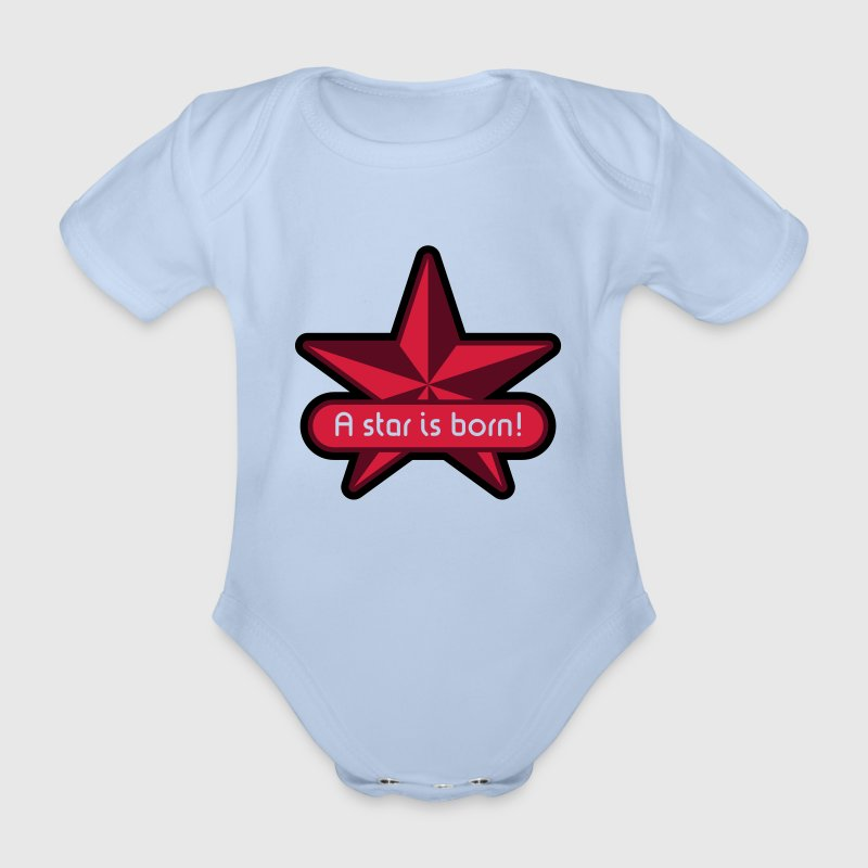 A Star Is Born! Baby Body (Girl) - Baby Bio-Kurzarm-Body