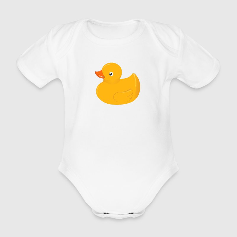 Yellow rubber duck Baby Bodysuit   Spreadshirt