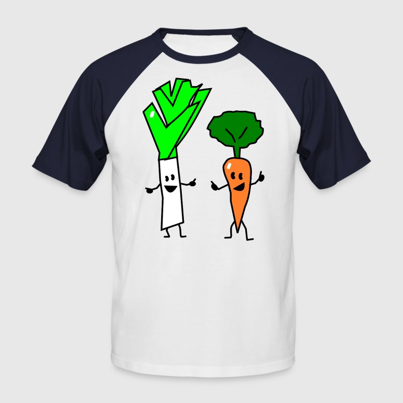 vegetable couple one T-Shirts - Männer Baseball-T-Shirt