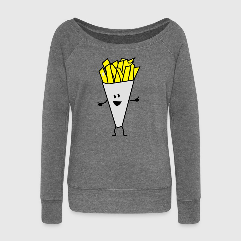 french fries Sweatshirts - Pull Femme col bateau de Bella