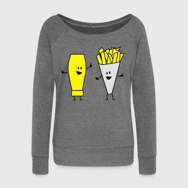 mayonnaise french fries Sweatshirts - Pull Femme col bateau de Bella