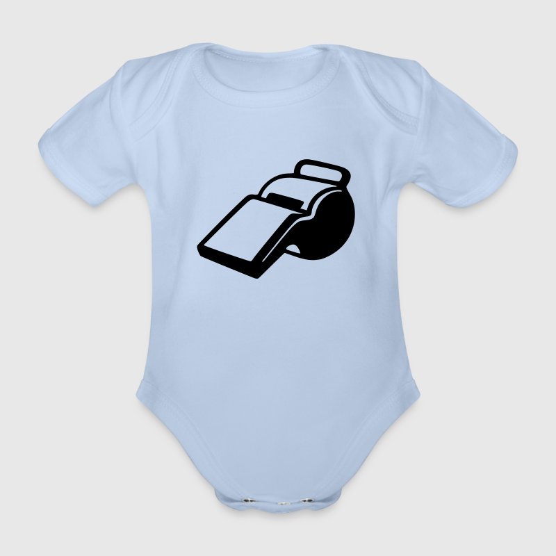 Soccer - referee  Baby Bodysuits - Organic Short-sleeved Baby Bodysuit
