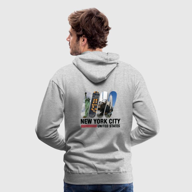 New York City (dd)++ Sweatshirts - Sweat-shirt à capuche Premium pour hommes