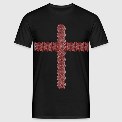 Croatia color pleter križ cross kreuz ornament T-Shirts - Männer T-Shirt