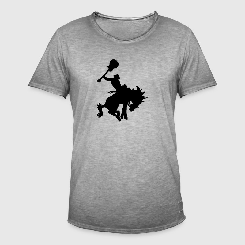 Guitar Hero rodeo cowboy on horseback, horse Kids' Tops - Men's Vintage T-Shirt
