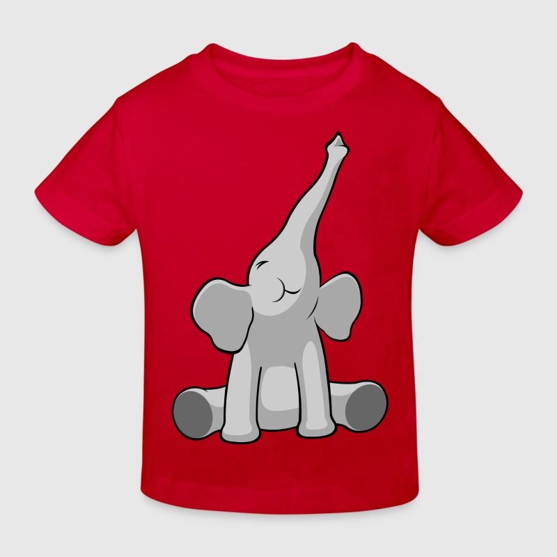 Ernie the Elephant - Kindershirt / rot - Kinder Bio-T-Shirt