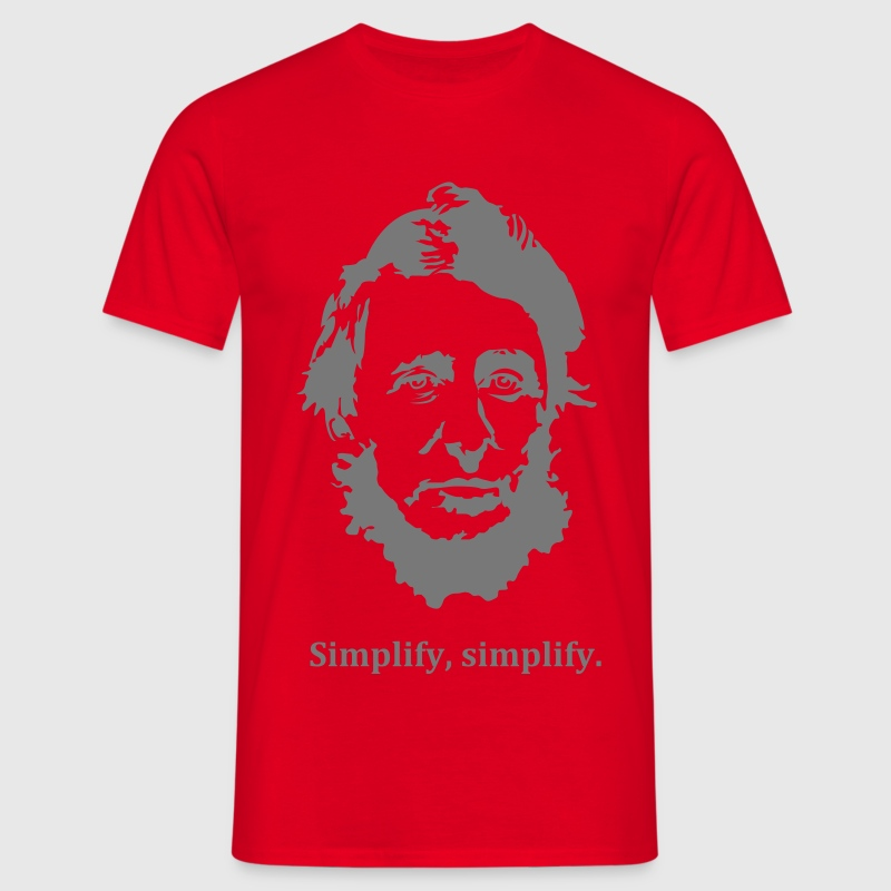 Thoreau: Simplify, simplify. T-Shirts - Men's T-Shirt