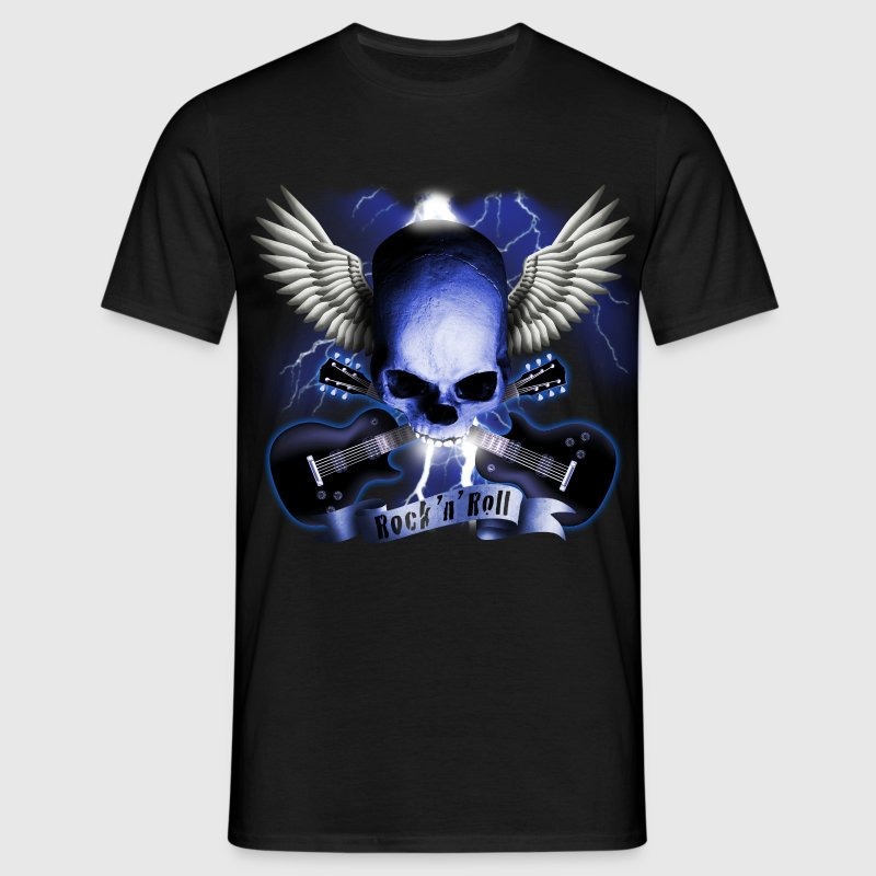 skull_and_wings_and_guitars_b T-shirts - T-shirt Homme