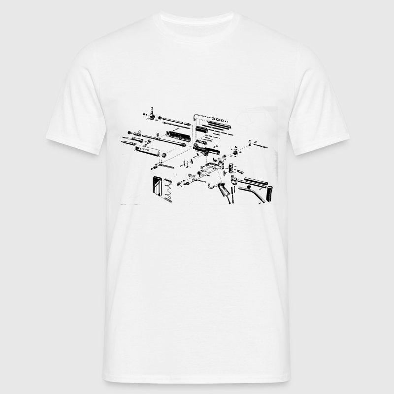 Rifle gun rifle blueprint t shirt spreadshirt rifle gun rifle blueprint t shirts mens t shirt malvernweather Image collections