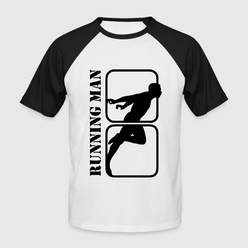 Running Man jogging sports motif T-Shirts - Men's Baseball T-Shirt