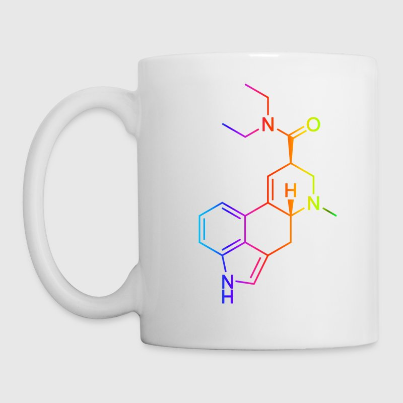 LSD Molecule Colored Bottles & Mugs - Mug
