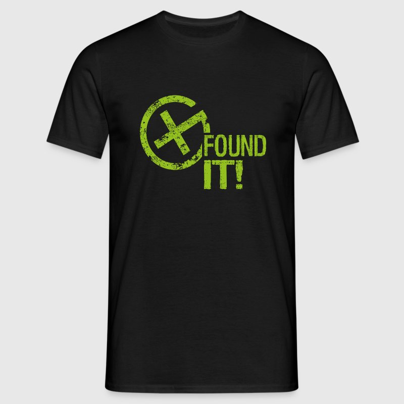 Geocaching FOUND IT! - Männer T-Shirt