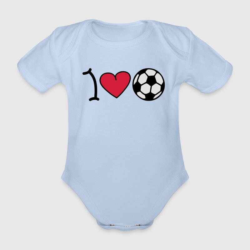 I love football Baby body - Baby bio-rompertje met korte mouwen