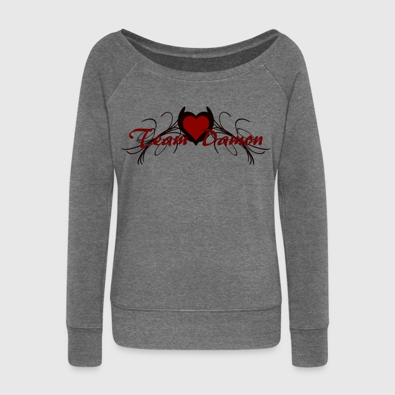 team damon Hoodies & Sweatshirts - Women's Boat Neck Long Sleeve Top