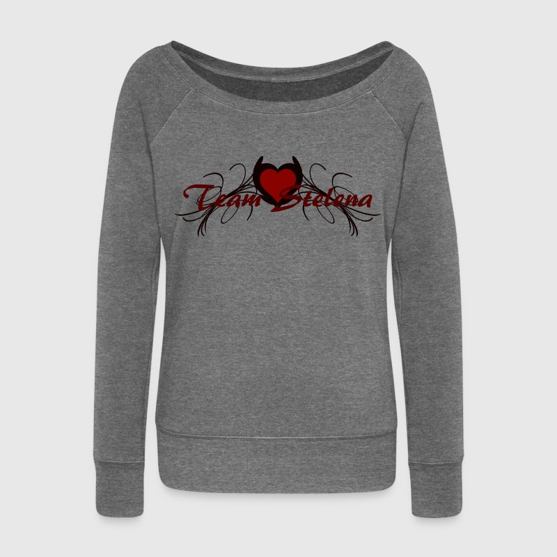 team stelena Hoodies & Sweatshirts - Women's Boat Neck Long Sleeve Top
