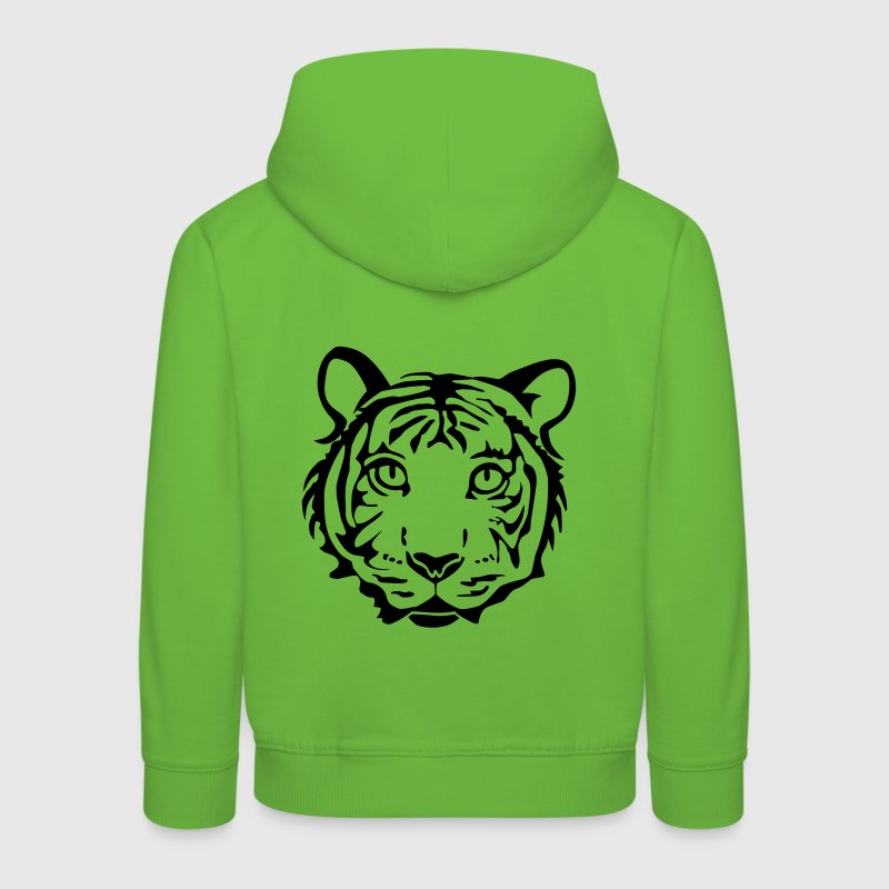 tiger shirt hoody cheetah lion leopard puma cat wild hunting hunter - Kids' Premium Hoodie