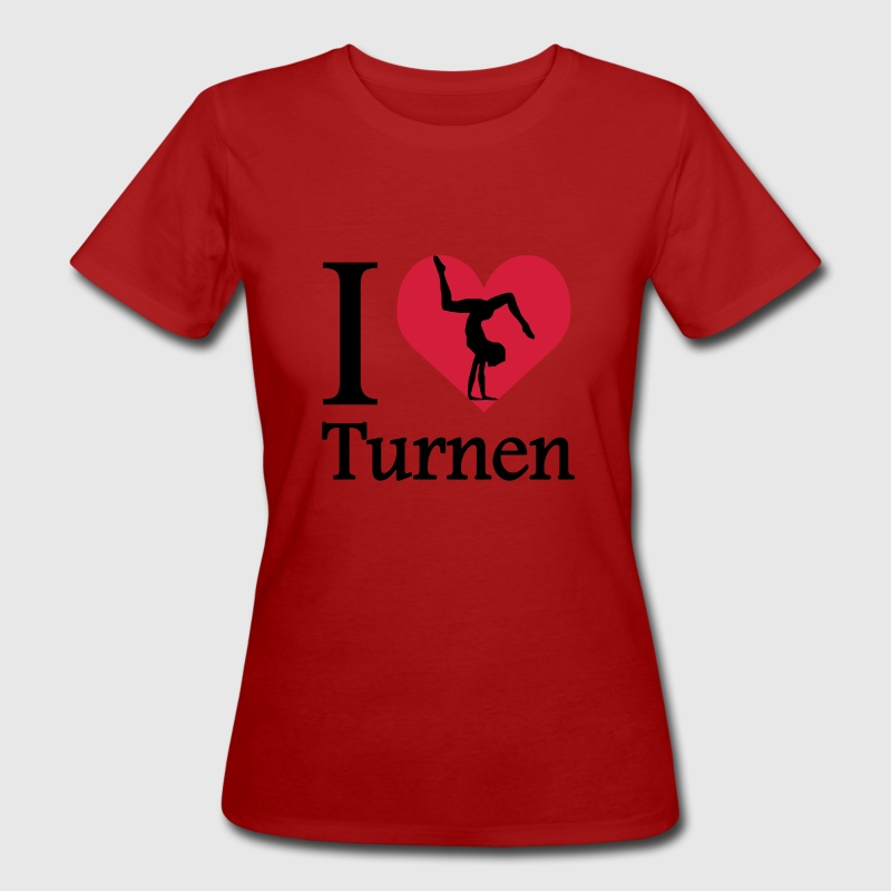 I love Turnen / I heart Turnen T-Shirts - Frauen Bio-T-Shirt