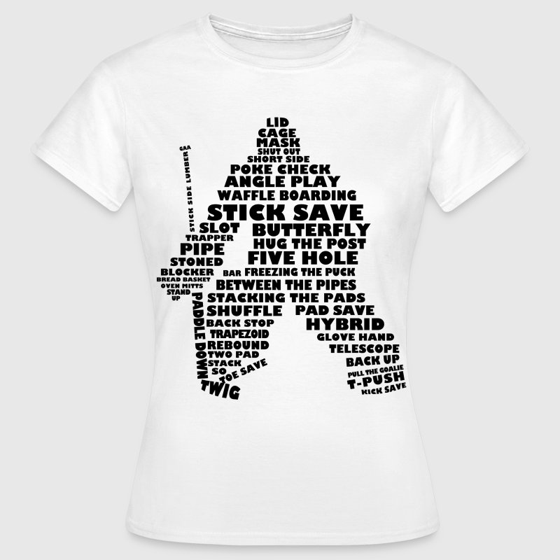 Sprog Hockey (Målmand version sort print) - Dame-T-shirt