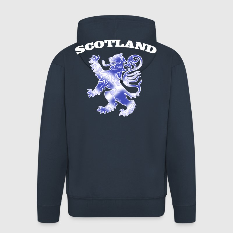 Scotland with Lion Rampant and Saltire Flag - Men's Premium Hooded Jacket