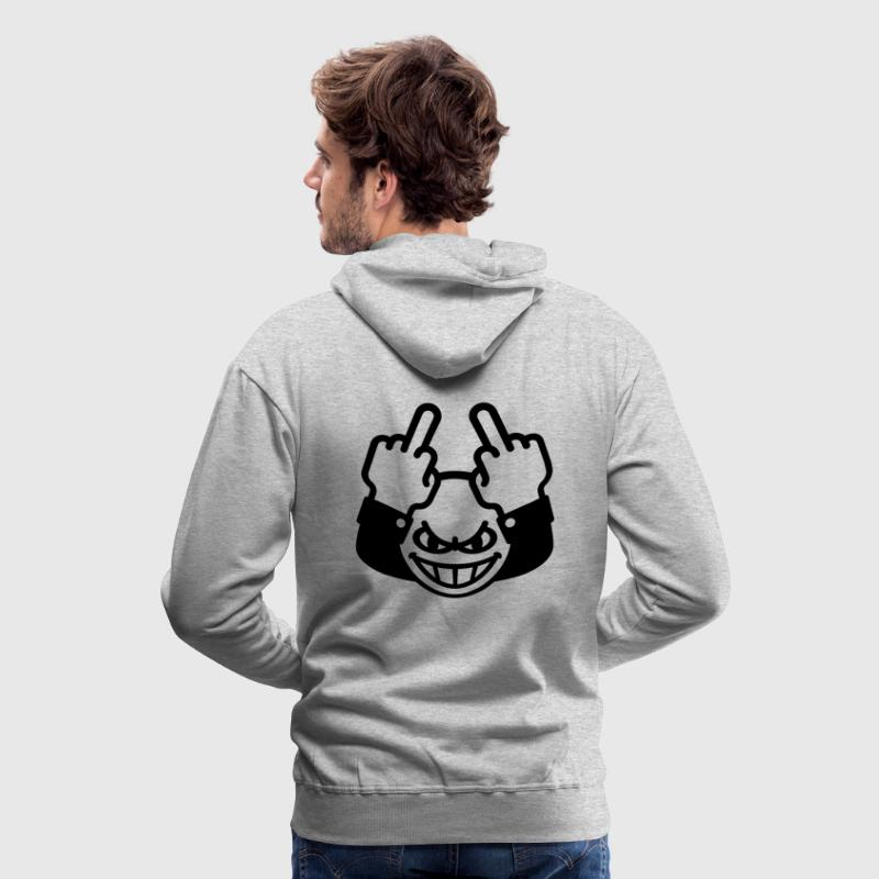 Méchant Smiley (fuck off / fuck you) Sweat-shirt  - Sweat-shirt à capuche Premium pour hommes