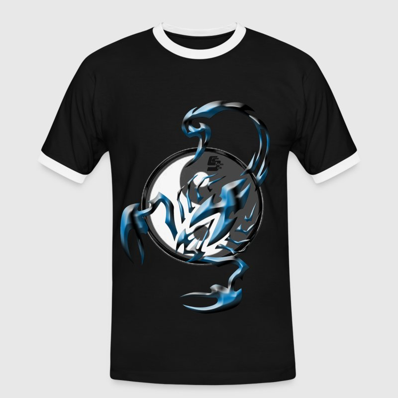 scorpion tribal Yin et yang By CustomStyle T-shirts - T-shirt contrasté Homme