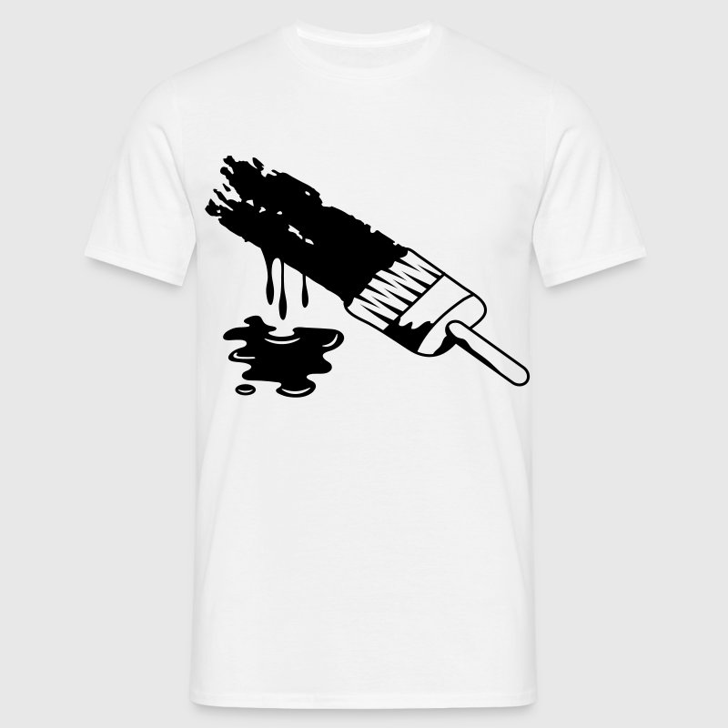 A brush and dripping paint T-Shirts - Men's T-Shirt
