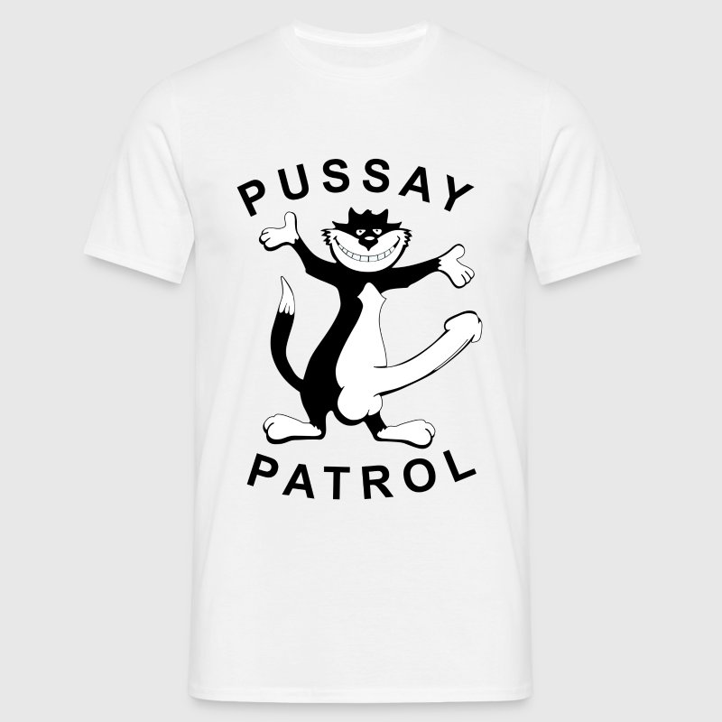 Pussay Patrol T Shirt White Inbetweeners T Shirt - Men's T-Shirt