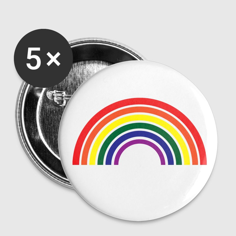 Gay / Regenbogen Buttons / Anstecker - Buttons klein 25 mm