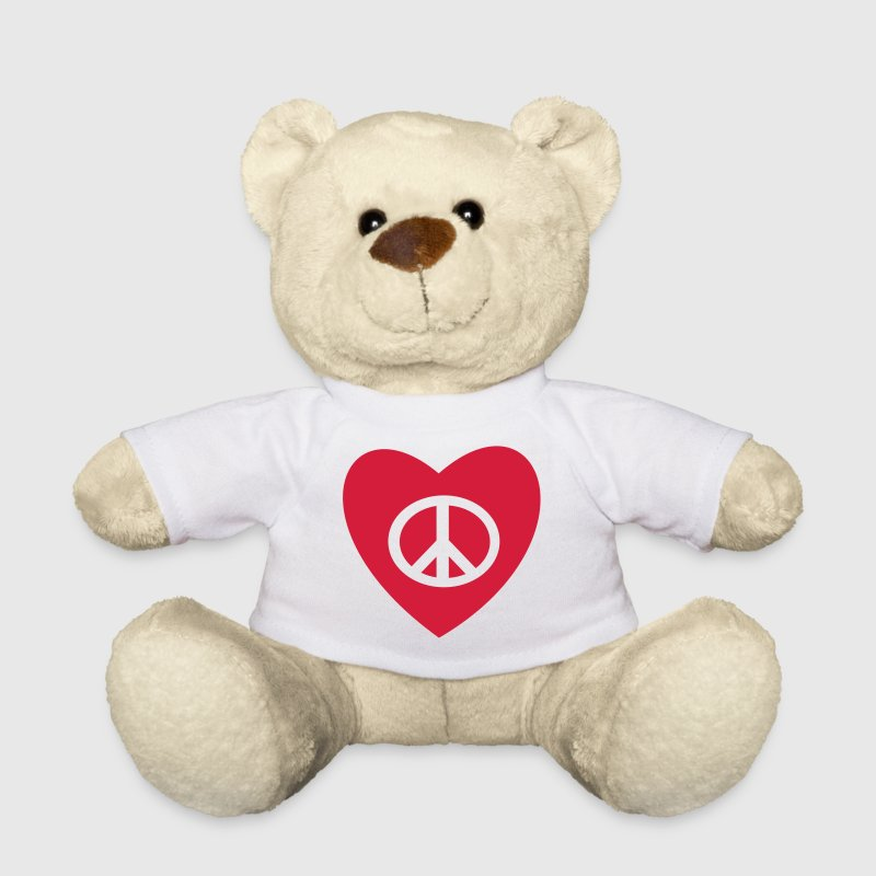 Paz y Amor Peace and Love  - Osito de peluche