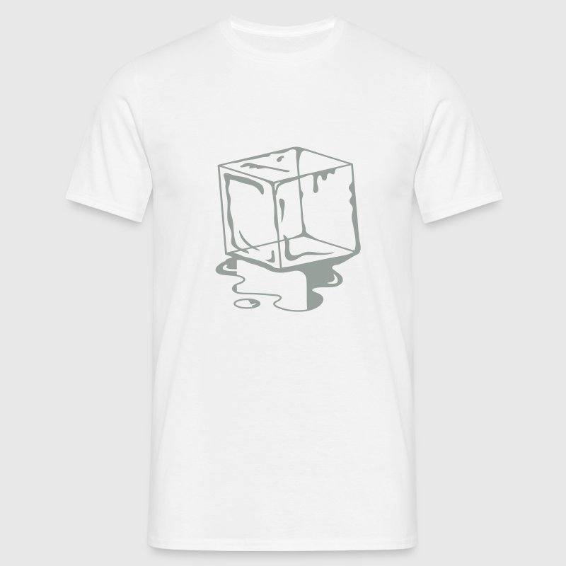 A melting ice Cube  T-Shirts - Men's T-Shirt