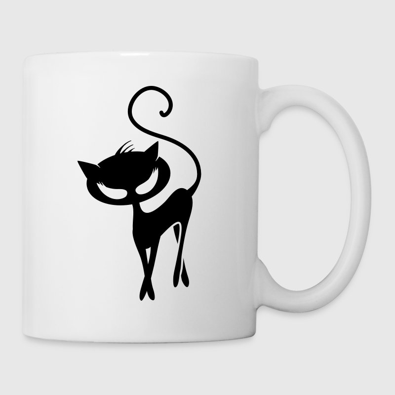 A black cat Mugs  - Mug