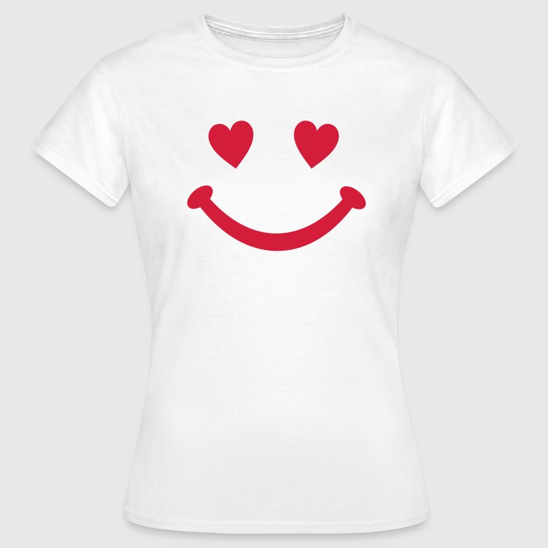coeur Smiley Sourire Tee shirts - T-shirt Femme