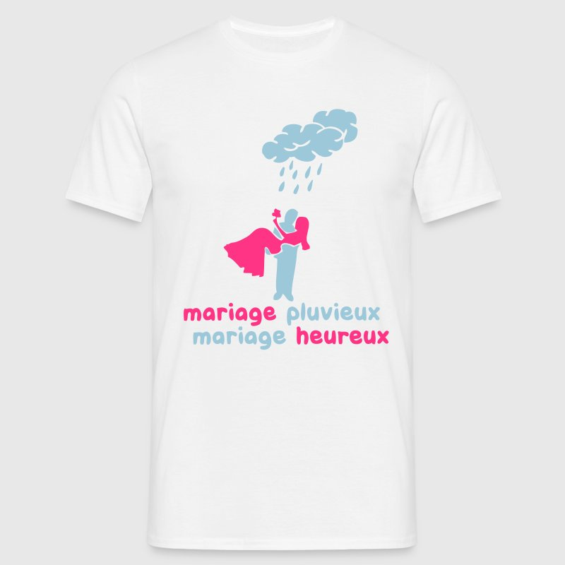 mariage pluvieux mariage heureux Tee shirts - T-shirt Homme