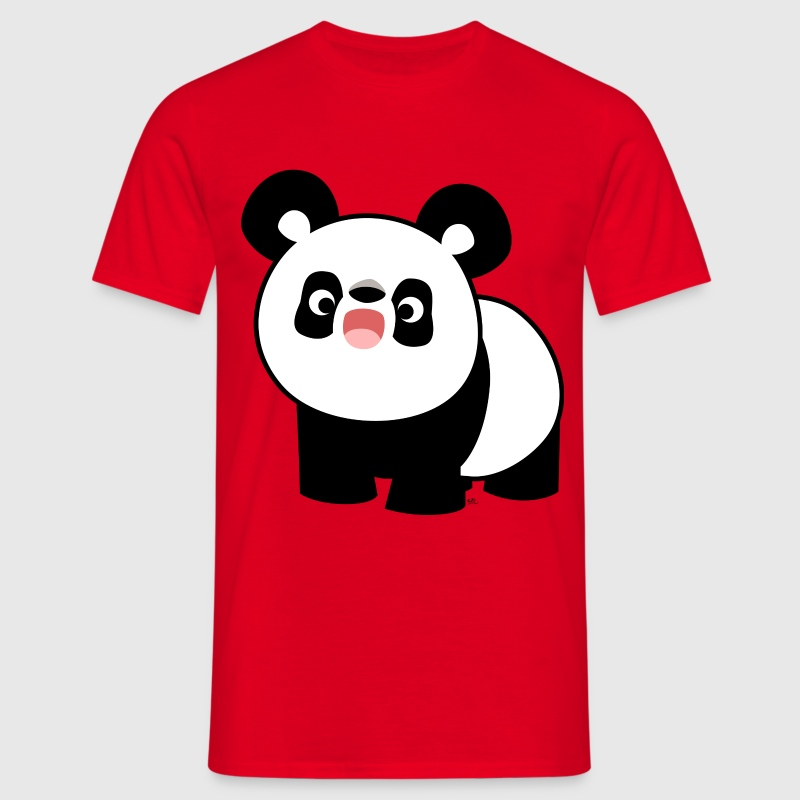 Cute Cartoon Singing Panda by Cheerful Madness!! T-Shirts - Men's T-Shirt