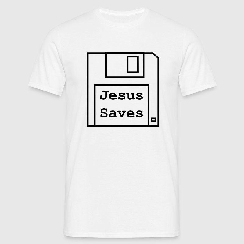 Jesus Saves - Classic Mens Black Design - Men's T-Shirt
